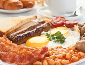 Cooked breakfast from a Yorkshire bed and breakfast