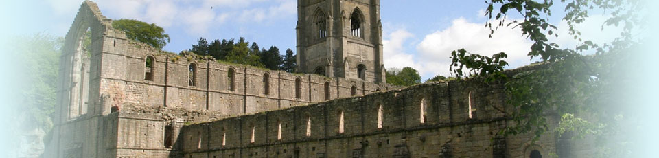 Fountains Abbey ruins near Ripon