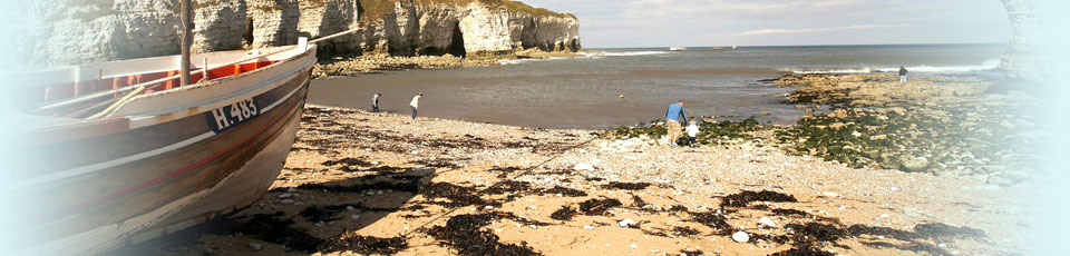 Flamborough North Landing on the Yorkshire coast